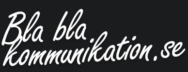 Bla bla kommunikation logo